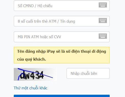 Cách đăng ký VietinBank iPay trực tuyến