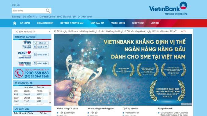 Tra số tài khoản ngân hàng Vietinbank