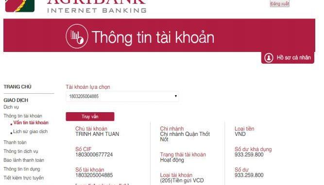 kiểm tra số tài khoản ngân hàng agribank