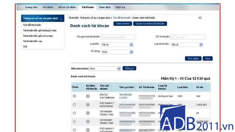 đăng ký internet banking sacombank qua mạng