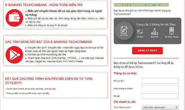 cách đăng ký internet banking techcombank