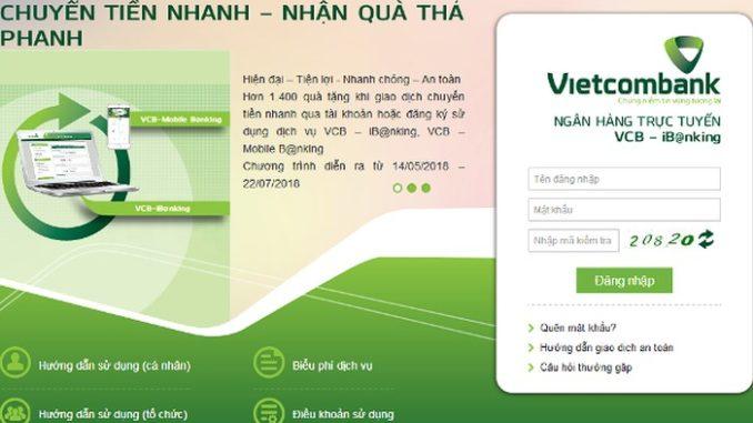 hướng dẫn đăng ký internet banking vcb