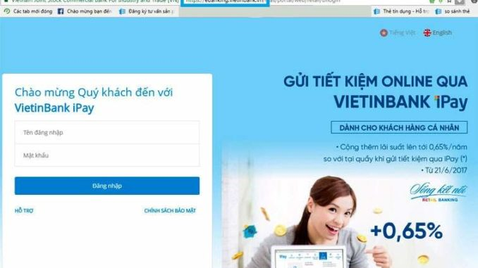 đăng ký internet banking vietinbank online