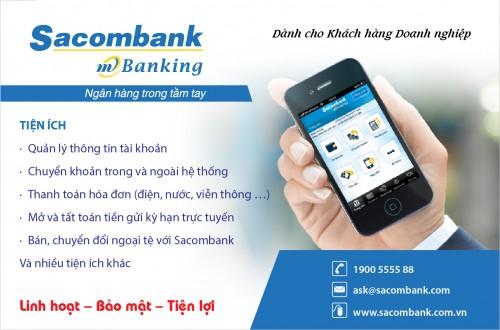 đăng ký internet banking sacombank trên điện thoại